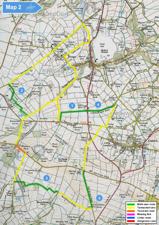 trails trust sample case study map Mendips